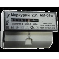 Электросчетчик Меркурий-231 АМ-01ш 5-60А 220/380В Кл.т.1,0 1тариф Акт. на DIN рейку мех.