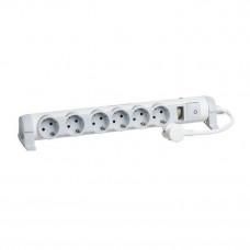 Удлинитель Legrand 'Комфорт и безопасность' 6 x 2К+З - с кабелем длиной 3 м 694647