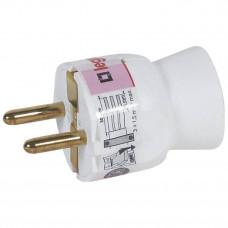 Вилка 2К+3 - Legrand Элиум - 16 А - пластик - прямой ввод - белый 050187