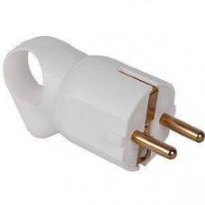 Вилка 2К+3 - Legrand Элиум - 16 А - с кольцом - пластик - винтовой зажим - белый 050190
