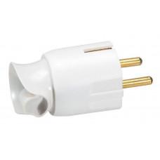 Вилка 2К+3 - Legrand Элиум - 16 А - с поворотным механизмом - винтовой зажим - белый 050172
