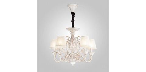 10001/5 / подвесной светильник /   белый с золотом