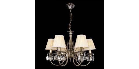 10012/6 / подвесной светильник /   античная бронза/прозрачный хрусталь Strotskis