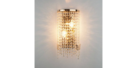 10015/2 / настенный светильник /   золото/прозрачный хрусталь Strotskis