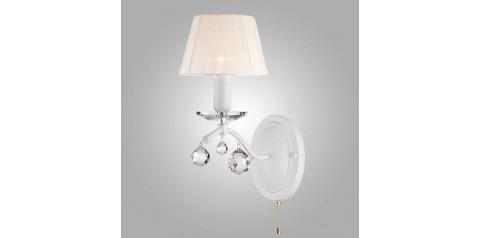 10058/1 / настенный светильник / бра белый с золотом/прозрачный хрусталь Strotskis