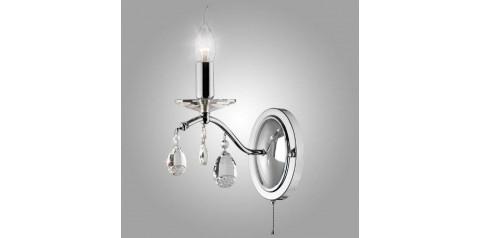 10059/1 / настенный светильник / бра хром/прозрачный хрусталь Strotskis