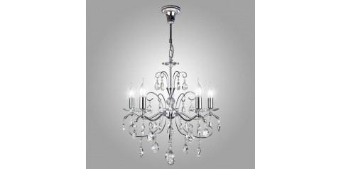 10059/5 / подвесной светильник /   хром/прозрачный хрусталь Strotskis