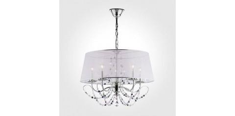 10068/5 / подвесной светильник /   хром/прозрачный хрусталь Strotskis
