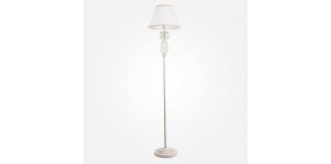 10073/1 / напольный светильник /   белый с золотом/прозрачный хрусталь Strotskis