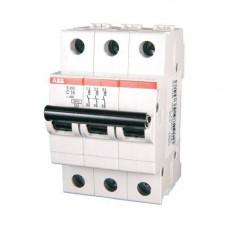 Автоматический выключатель 3-полюсный ABB S203 C6
