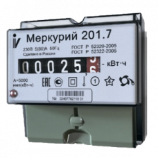 Электросчетчик Меркурий 201.7 5(60)А/230В однотарифный, кл.точ. 1,0