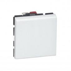 Выключатель 2 мод. 10AX 250В белый Mosaic Legrand 077010