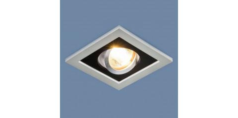 1031/1 MR16 / Светильник встраиваемый SL/BK серебро/черный