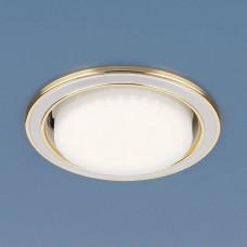1036 GX53 WH/GD / Светильник встраиваемый белый/золото