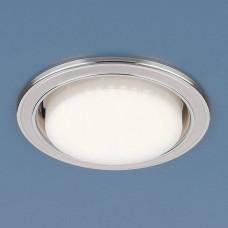1036 GX53 WH/SL / Светильник встраиваемый белый/серебро