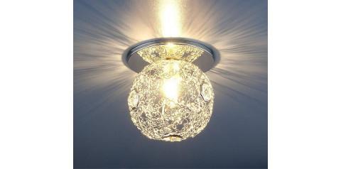 1002 G9 SL / Светильник встраиваемый серебро